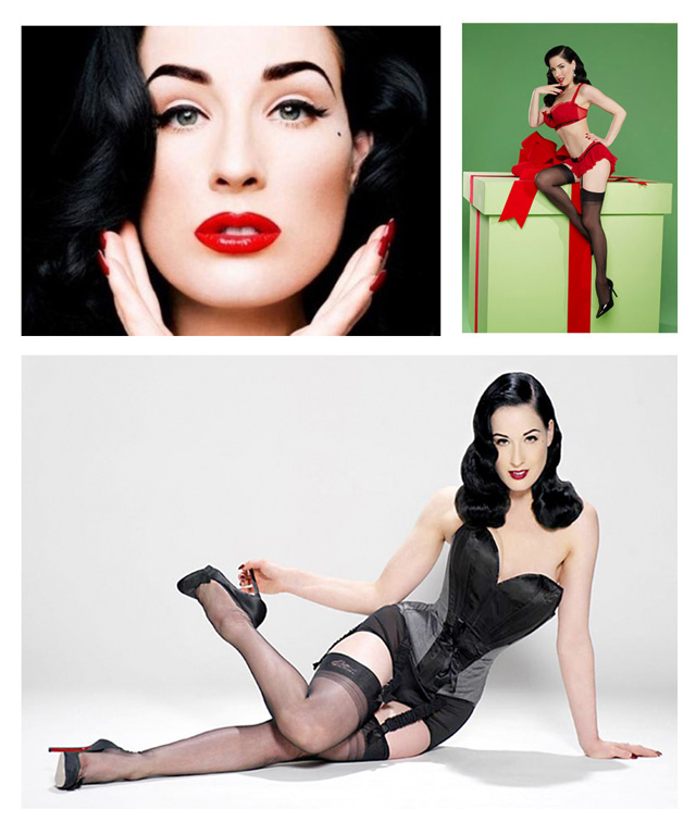 Dita Von Teese pin up girl