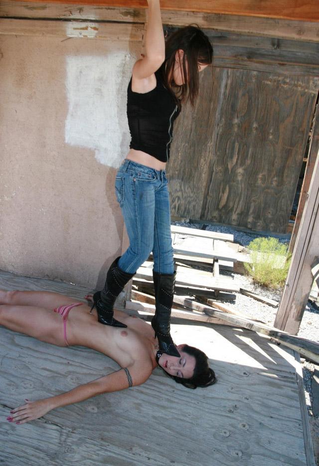 Trampling lesbian BDSM